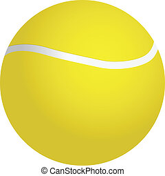 Tennis ball - Yellow tennis ball - sports equipment. Vector...