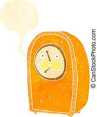 retro cartoon antique clock