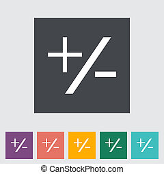 Plus minus flat icon. - Plus minus single flat icon. Vector...