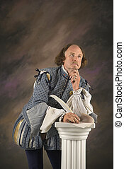 Shakespeare thinking. - William Shakespeare in period...