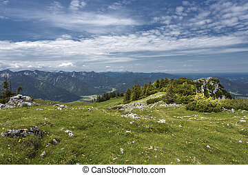 Hiking in the bavarian alps, Germany
