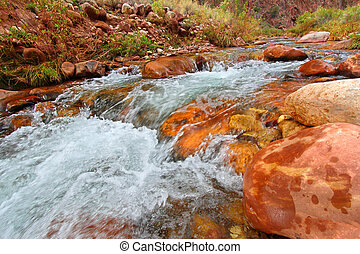 Bright Angel Creek Grand Canyon - Rapids of Bright Angel...
