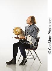 escola,  Shakespeare, escrivaninha