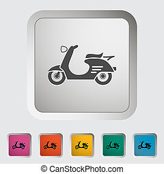 Scooter Single icon Vector illustration