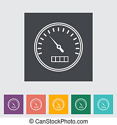 Speedometer flat icon. Vector illustration