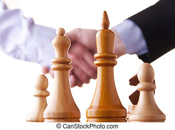 chess, win, victory, hand