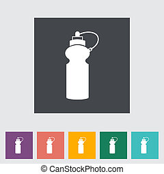 Sports water bottle flat icon. Vector illustration.