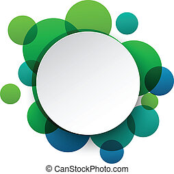 Paper white round speech bubbles - Vector illustration of...