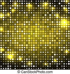 Yellow abstract background with circles dark