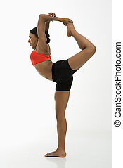Woman in Yoga pose.