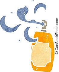 retro cartoon spray paint can