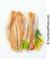 Whitefish fillets - Studio shot of whitefish fillets
