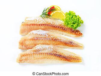 fresco, pez, Filetes