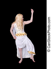 athenian goddess over black - one twenties blonde haired...
