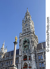 New Town Hall in Munich, Bavaria, Germany