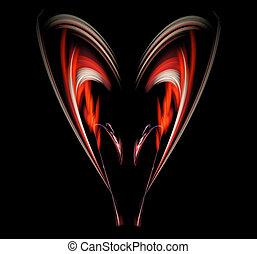fractal over black background - red abstract fractal...