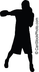 "Left Hook Silhouette - A silhouette of the boxing move ""left..."