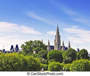 Castle Town Hall in Vienna Austria