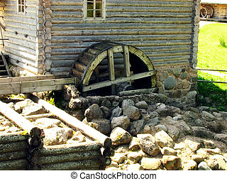 Watermill - The watermill, waterwheel and stones in the...