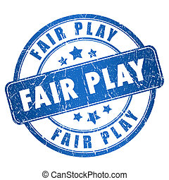 Fair play stamp isolated on white