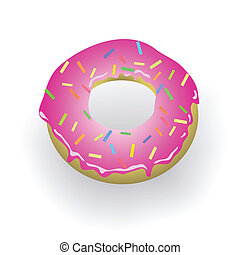 donut - colorful illustration with donut for your design