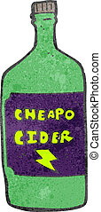 retro cartoon cheap cider