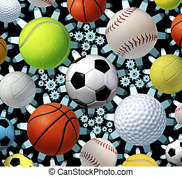 Sports Business - Sports business concept and sporting...