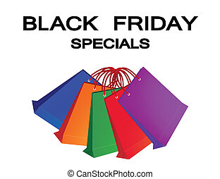 Colorful Paper Shopping Bags for Black Friday Special -...
