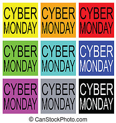 Cyber Monday on Colorful Banner for Special Price Products -...