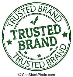 Trusted, marca, estampilla