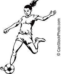 Soccer Football Female Player - Soccer football female...