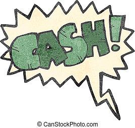 retro cartoon comic book shout for cash