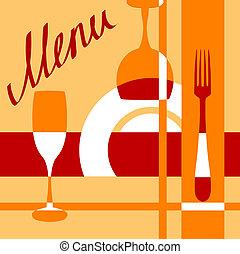 Bar or cafe menu cover background for design