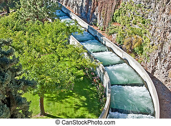 Operational Fish Ladder - This is an operational fish ladder...