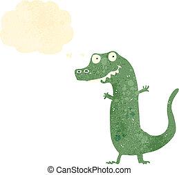 retro cartoon reptile