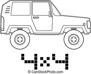4x4 car - Creative design of 4x4 car