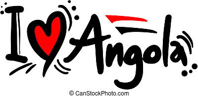 Love Angola - Creative design of love angola