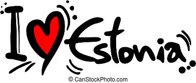 Love Estonia - Creative design of love estonia