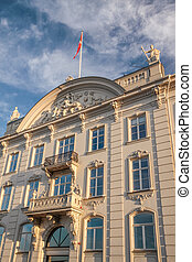 Historic facade in Copenhagen - Historic facade in the...