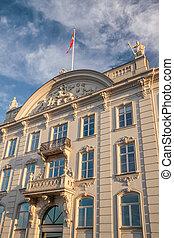 Historic facade in Copenhagen - Historic facade in the...