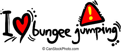 Love bungee jumping - Creative design of love bungee jumping