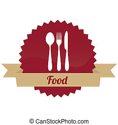 food label on white background