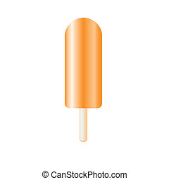 ice-lolly - orange ice-lolly on white background