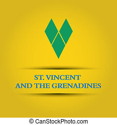 St. Vincent and the Grenadines text on special background...