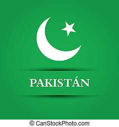 pakistan - abstract pakistan text on special allusive flag...