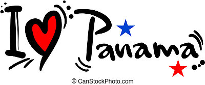 Love panama - Creative design of love panama