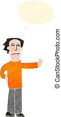 retro cartoon man making stop gesture