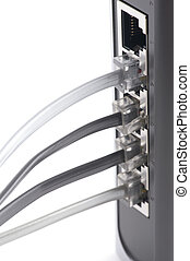 connecting switch on white - object on white - ETHERNET...