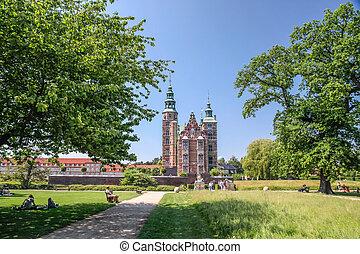 Park of Rosenborg Palace in Copenhagen, Denmark