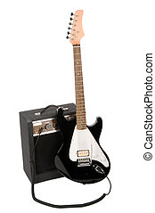 Electric Guitar with Amp - Electric guitar with amplifier...